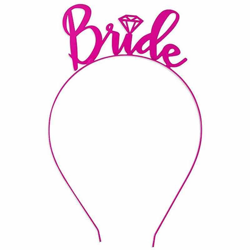 Hochzeit Bachelorette hen night Party braut dusche Brautjungfer braut zu werden schärpe schleier Sexy Strumpfband crown tiara dekoration favor