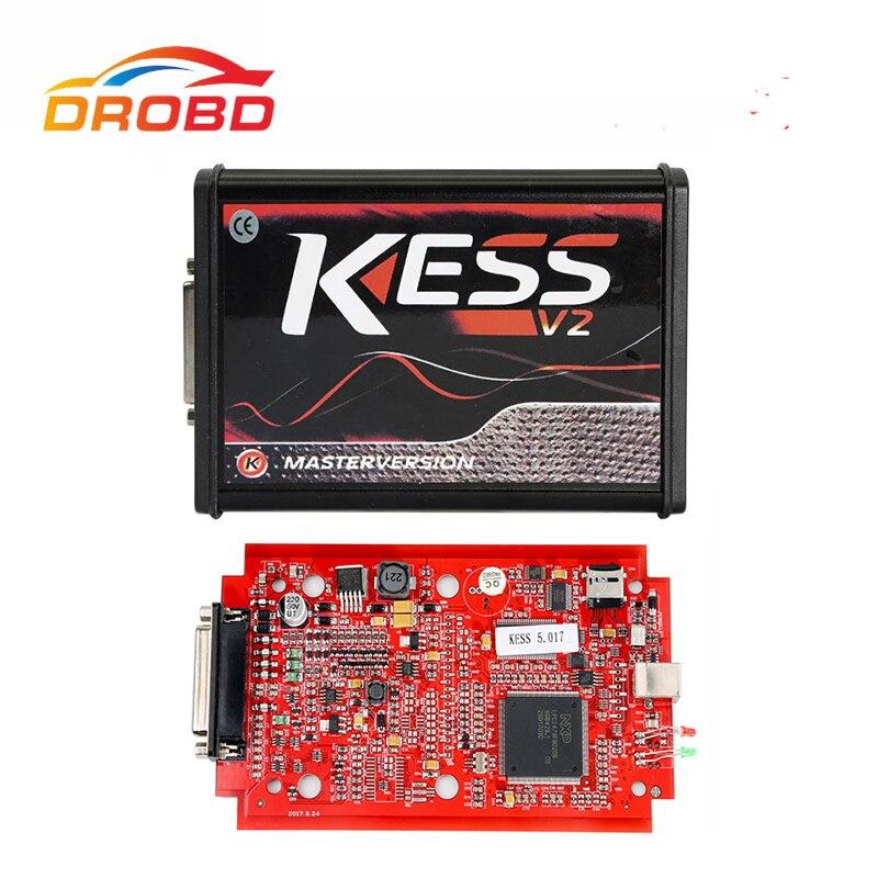 2019 nowy Kess V2 Master 5.017 OBD2 zestaw do tuningu menedżera Kess V5.017 ECU OBD2 samochodu/ciężarówki narzędzie programistyczne Kess V2 V2.47 ue czerwona płytka