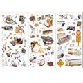 3 листа, дорожные канцелярские наклейки, набор милых декоративных наклеек для скрапбукинга, дневника, планировщика, «сделай сам», блокнота, ...