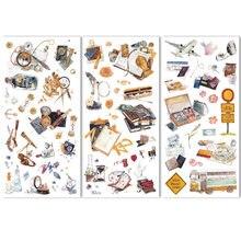 3 folhas de viagem artigos de papelaria adesivos decorativos bonito conjunto scrapbooking diário planejador diy notebook telefone