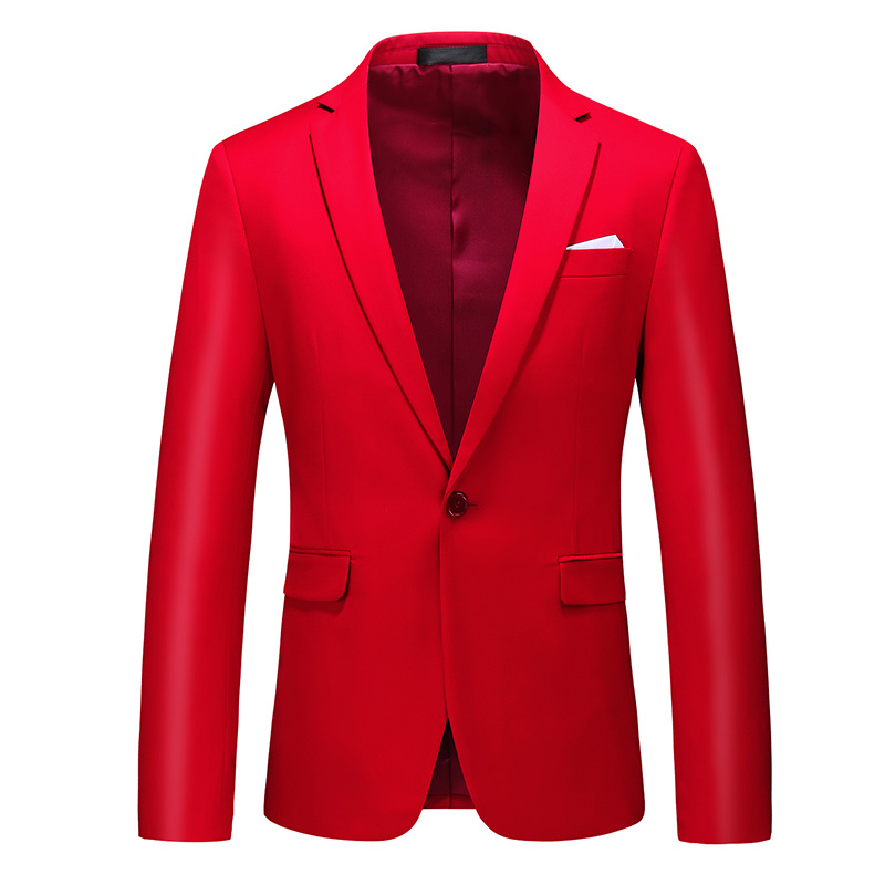 Red Men Formal Suit Jackets Business Uniform Work Coat Suit Male Spring Summer Solid Slim Fit White Wedding Suit For Men Sale