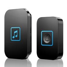 Wireless Doorbell Led-Light CACAZI Calling 60-Chimes-1 2-Button Waterproof Smart EU Plug