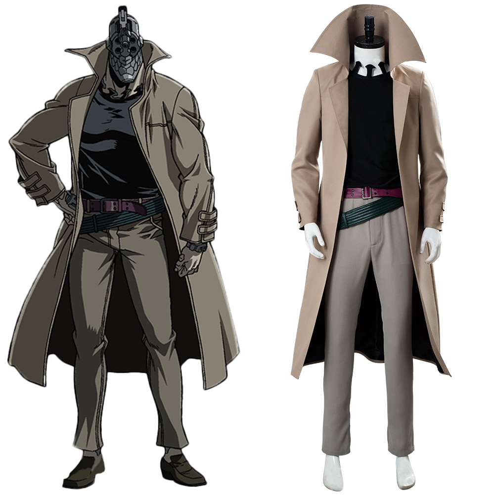No Guns Life Juzo Inui Cosplay Costume Adult Men Women Turtleneck Trench Coat Uniform Halloween Carnival Costumes