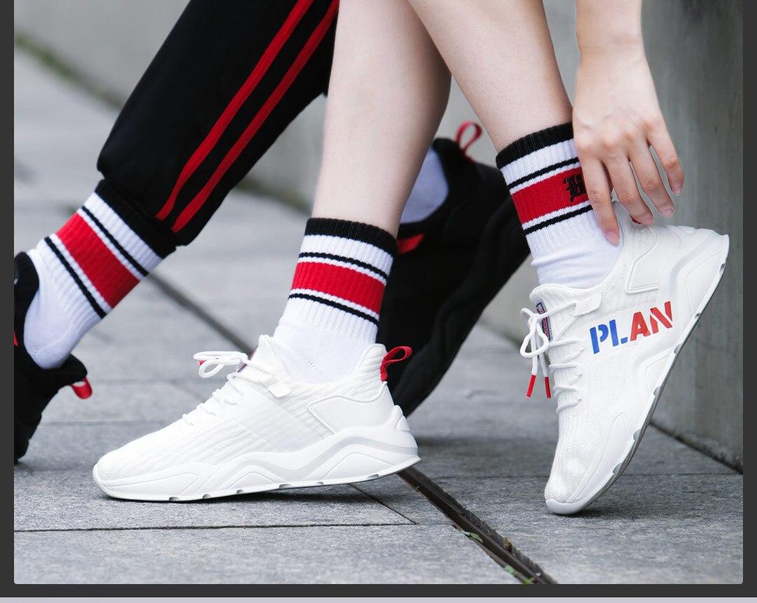 Sapatos masculinos de verão sapatos desportivos casal voar tecido de malha respirável running shoes - 2