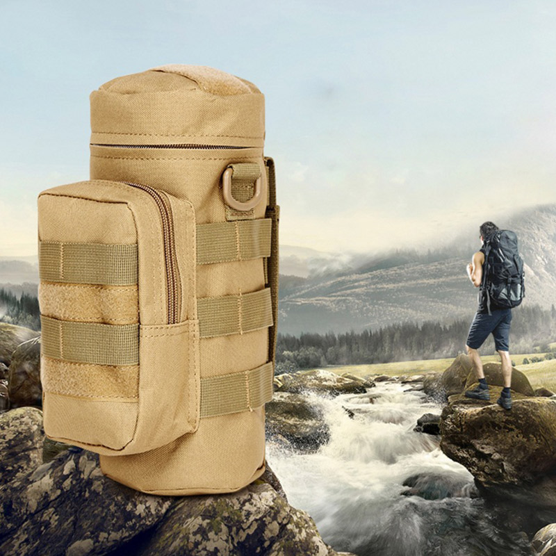 Empty Bag Multi-function Outdoor Water Bottle Bag Tactical Emergency Kits Travel Hiking Mountaineering Accessories Bags