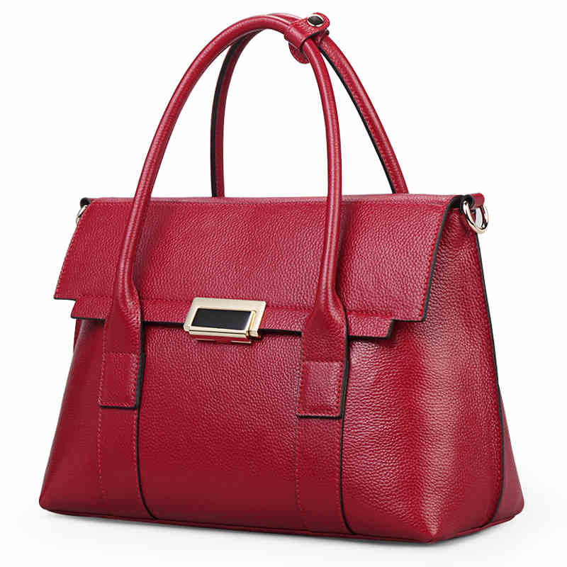 New Style Women's Bags Large Bag Women's Handbag Full-grain Crossbody Bag
