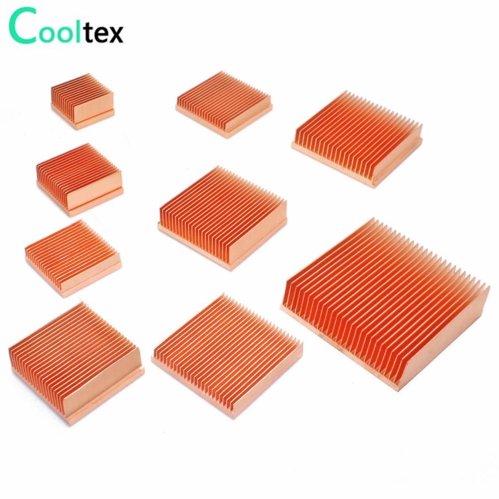 Теплоотвод из чистой меди, радиатор для самостоятельной сборки, Охлаждающий радиатор для электронного 3D принтера Raspberry pi, чип IC MOS для рассеи...
