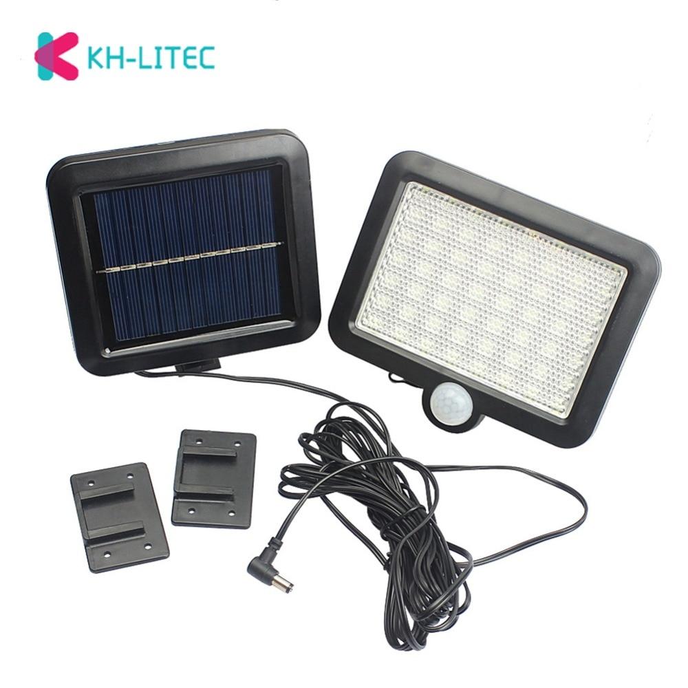 56 LED Solar Power Light PIR Motion Sensor Decorative Wall Lamp Waterproof Outdoor Garden Security Emergency Street Lighting