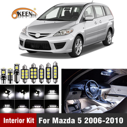 10Pcs Canbus Led Bulb Car Interior Light Kit For Mazda 5 2006 2007 2008 2009 2010  led interior Dome Map Trunk Lights