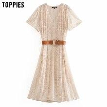 toppies pleated white chiffon dress for women summer short sleeve midi