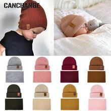 Модная женская шапка и шарф для детей, вязаная зимняя шапка, шарф для детей, колпачок, девочка-мальчик, одноцветные шапки с логотипом