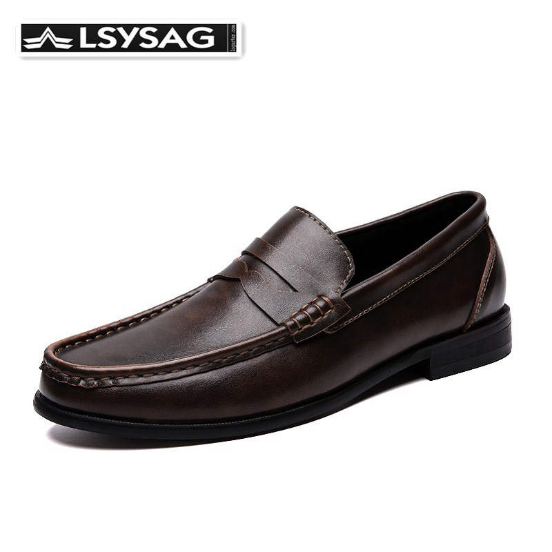 Men Loafers Shoes Spring Summer Soft Genuine Leather Business Men Moccasins Shoes Breathable Slip On Driving Shoes Size 39-46