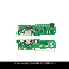 For Sony Xperia XA1 Ultra G3221 G3212 G3223 G3226 USB Charger Port Dock Connector Flex Cable With Mic Microphone for zte trek 2 hd k88 usb charger port dock connector flex cable with mic microphone repair parts
