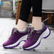 Женские кроссовки на платформе, со шнуровкой, на весну и осень, удобная спортивная обувь, увеличивающая рост