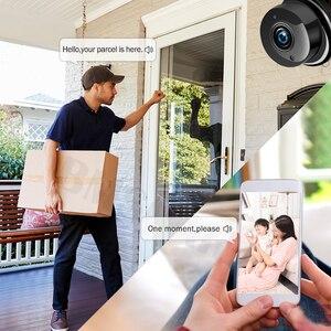 Image 5 - Mini caméra de surveillance IP WIFI Cloud hd 1080P, dispositif de sécurité sans fil, babyphone vidéo, avec Vision nocturne infrarouge, détection de mouvement et port SD