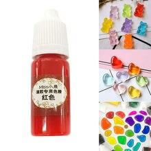 1 pçs resina uv cola pigmento cor coloração líquida tintura 10ml diy jóias fazendo artesanato fs99