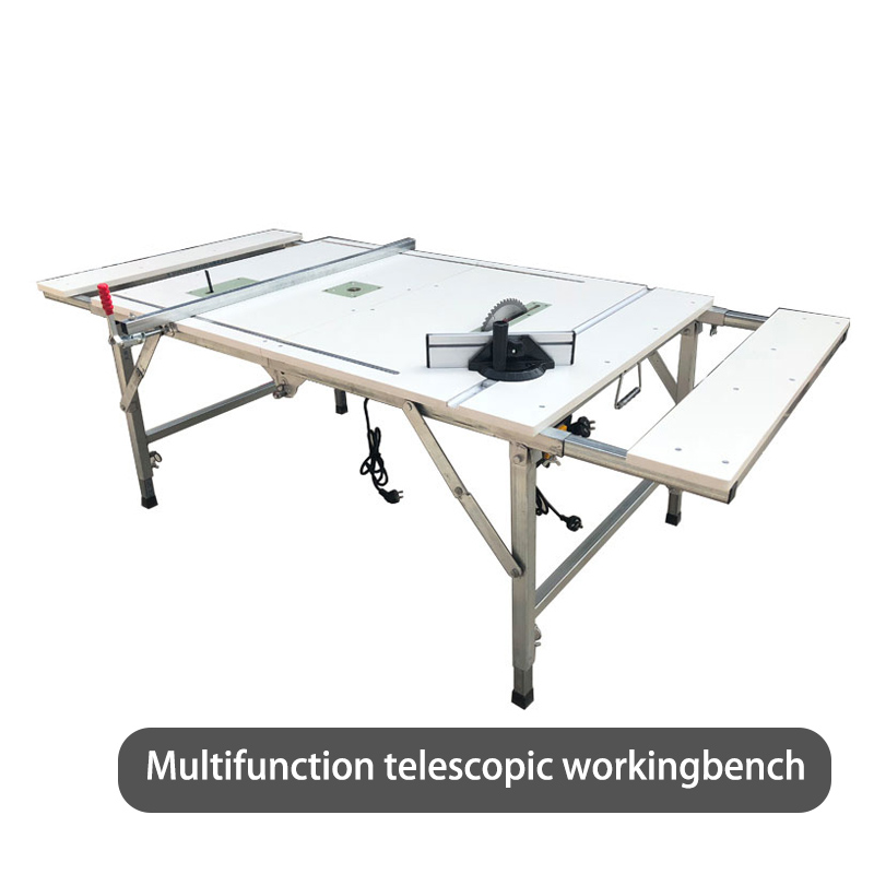Portable Folding Woodworking Table Multifunctional Retractable Woodworking Table Table Saw Workingbench
