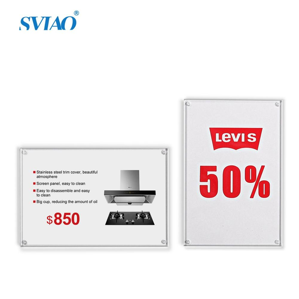 5pcs 120*80mm Magnetic Board Price Tag Wall Mounted Poster Picture Display Board With Stickers Sign Holder