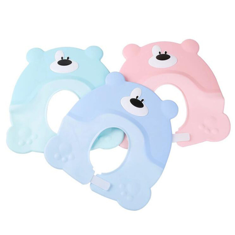 Korean Version Cute Baby Hat Toddler Kids Shampoo Bathing Shower Cap Wash Hair Visor Caps For Baby Care Douchekap