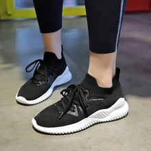 Hot Sale Casual Women Shoes Solid Black Simple Style Wedge Sneakers Hard-wearing Increase Female 2019 New Spring D0003