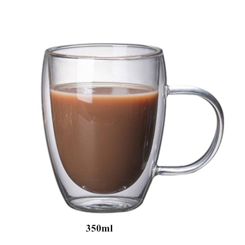 Детская одежда на рост 80, 250/350/450 мл чайник для заварки из термоустойчивого с двойными стенками, Стекло пивной бокал, Кубок Кофе чашки ручной работы здоровый напиток кружка Чай кружки прозрачный посуда для напитков - Цвет: H 350ml