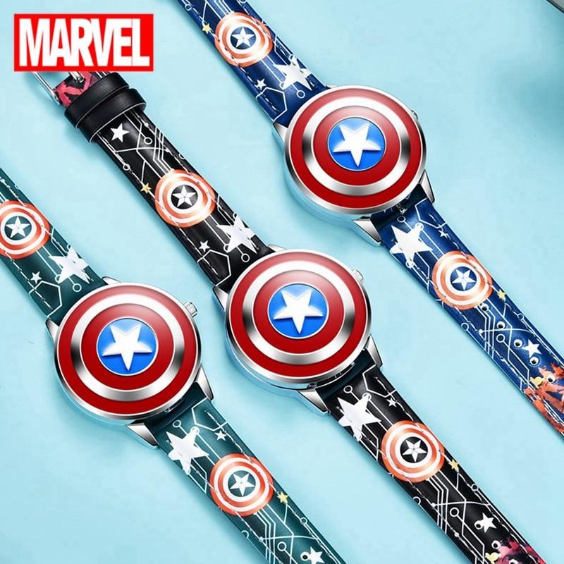 Marvel Children Watches Cool Street Friend Kid Love Students Boy Birthday Gift Wristwatch Steel Cover Soft Band Kids Clock New