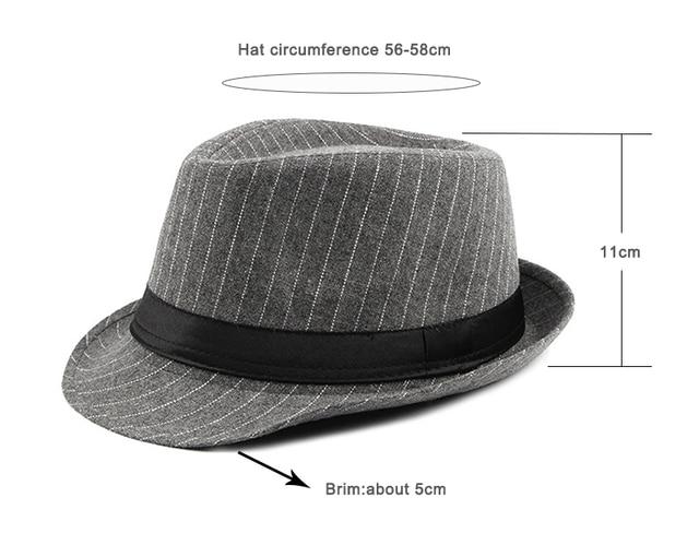 Мужская винтажная полосатая шляпа wuaumx фетровая в стиле «Джаз»