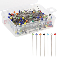 250pcs/set DIY Round Pearl Head Dressmaking Pins Weddings Corsage Florists Sewing Pin With Box Accessories Tools