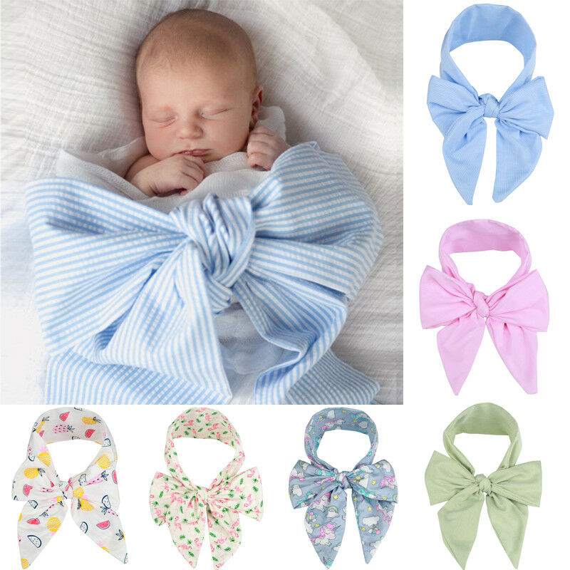 Elastic Force Baby Blankets Newborn Photography Accessories Bow Soft Swaddle Wrap Lace Baby Kids Bedding Towel Swaddle 0-6 Month