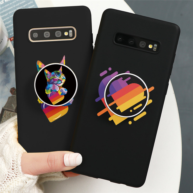 Cute Likee Holder Case For Samsung Galaxy A51 A71 A31 A41 A11 A21 A91 A10 A20 A30 A40 A50 A70 S10 S8 S9 S20 Ultra Plus TPU Cover image