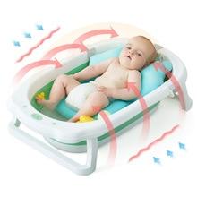 Baby Tub Home PP+TPE Baby Cartoon Style Folding Tub Thickened Large Children's Bath Tub Newborn Bath Barrel Supplies
