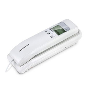 Image 1 - Trimline Corded Phone with Dual LCD Display, Caller ID, Dual Systems, Adjustable Ringtone Volume Desk Wall Telephone for Home