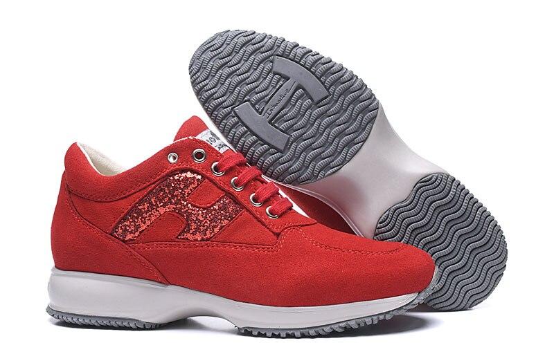 2020 Top Brand Hogan Genuine Leather Lace Up Women Jogging Shoes Luxury Womens Walking Shoes Fashion Women Sneakers