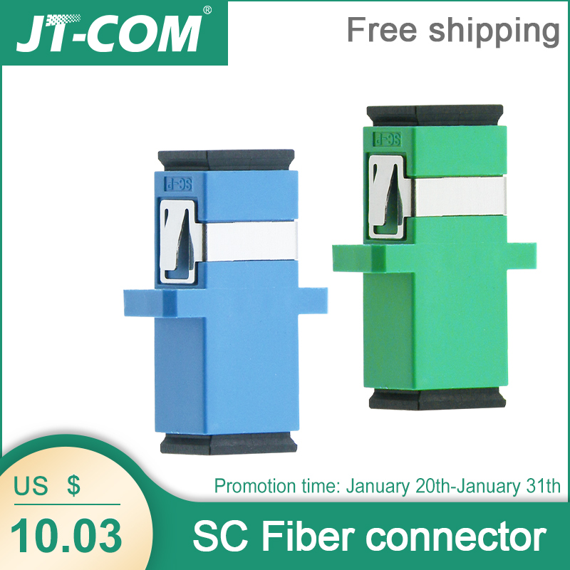 Free Shipping!200Pcs SC Fiber Optic Connector Adapter / UPC SM Flange Singlemode Simplex SC-SC APC Coupler Wholesale to