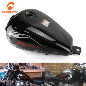 OUMURS Motorcycle 3.4 Gallons Capacity Fuel Gas Tank Blue Black For Honda Rebel 250 CMX250C 1985-2016 2013 2014 2015 Accessories