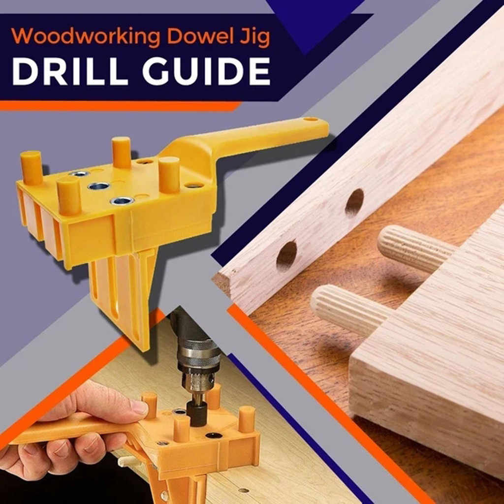 Wood Dowelling Self Centering Drill Guide Kit Hole Puncher Locator Jig Z