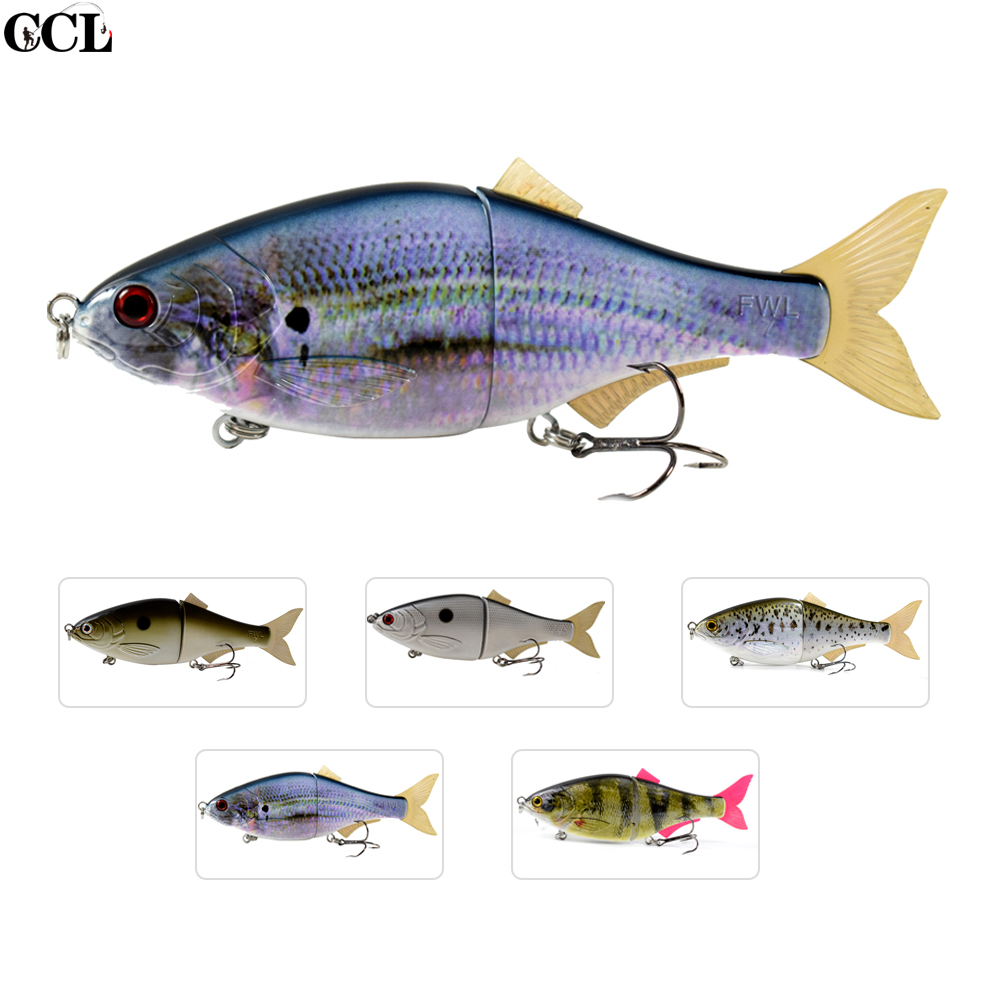 3PCS/LOT Customized 9inch Glide Big Game Swimbait Shad Fishing Lure  Soft Fins Hard Body Jointed Bait CCL Tackle Limited