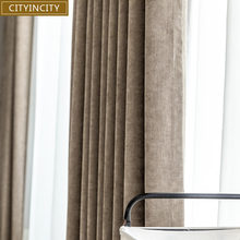 Chenille Curtains Bedroom Living-Room Customized Home-Decor Solid CITYINCITY for Thick