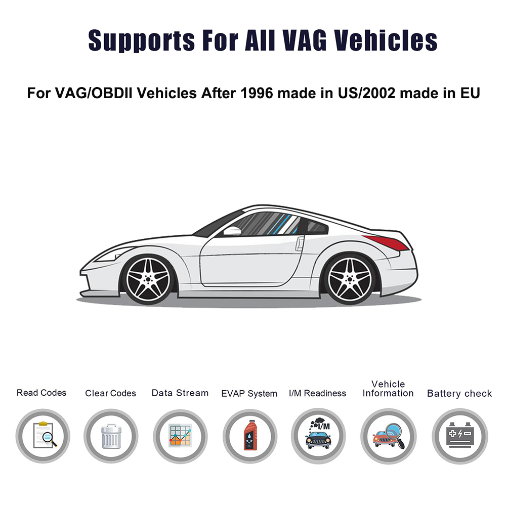 Image 5 - ANCEL VD700 Car Diagnostics OBD2 for VW Audi Skoda Seat VAG Automotive Scanner ABS SRS Oil EPB DPF TPMS Reset OBD2 Auto Scanner-in Air Bag Scan Tools & Simulators from Automobiles & Motorcycles on