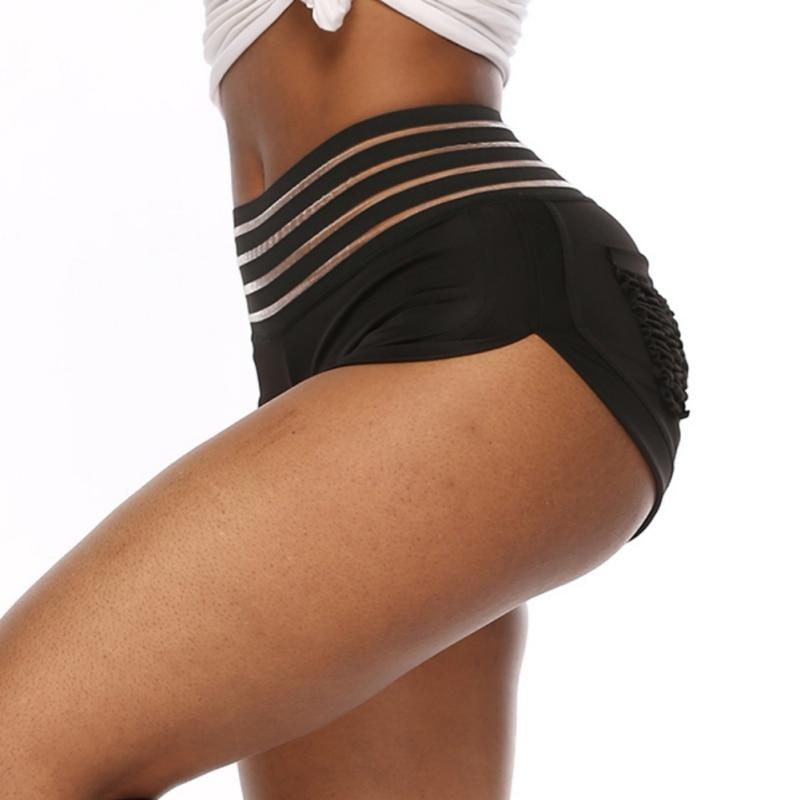 Women Fitness Shorts Ladies Yoga Shorts High Waist Short Pants Breathable Seamless Sport Clothes  Running Shorts
