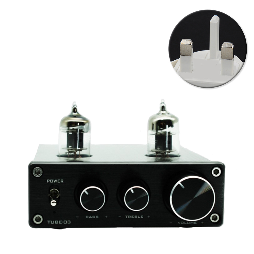 Mini Headphone Vacumn Adjustable RIAA HIFI Pre Amplifier Universal Preamp Turntable Phono Home <font><b>6k4</b></font> <font><b>Tube</b></font> Aluminium image