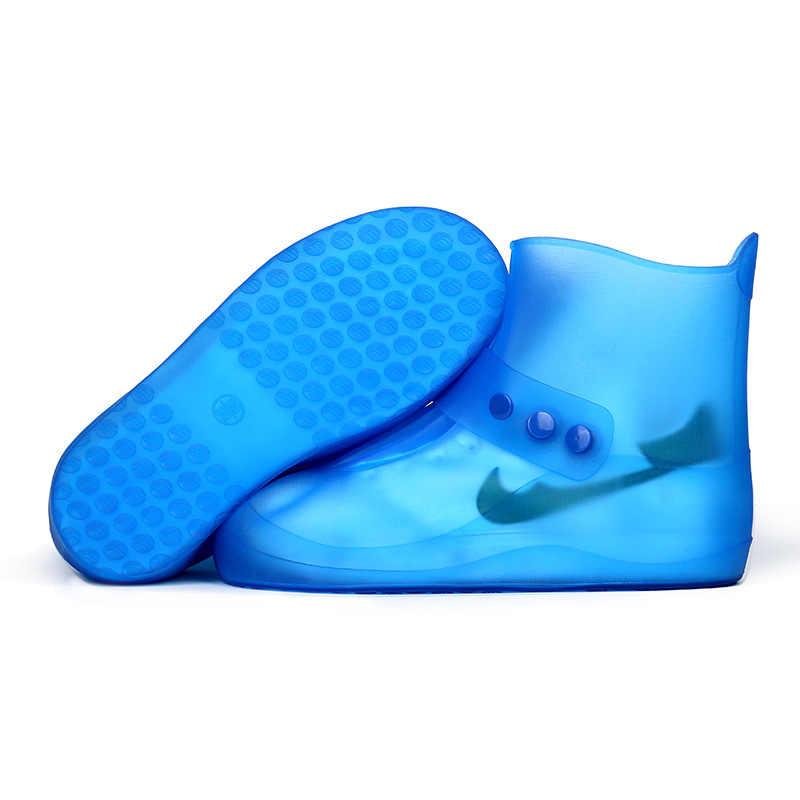Erkekler & Kadınlar Yeniden Kullanılabilir yağmur ayakkabıları Kapakları Tüm Mevsim Su Geçirmez Kayma dayanıklı Fermuar yağmur botu Galoş Unisex Ayakkabı Aksesuarları
