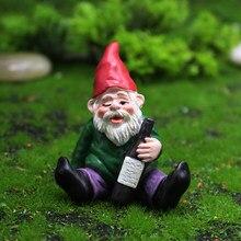 Statue de Gnome de Jardin en résine, décoration de noël, bricolage, accessoires de Jardin durables