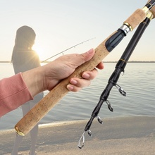 цена на Spinning Casting Rods 2.1m2.4m Carbon Fishing Rod Bass Fishing Tackle Lure Rods Vara De Pesca Telescopic Fishing Stick