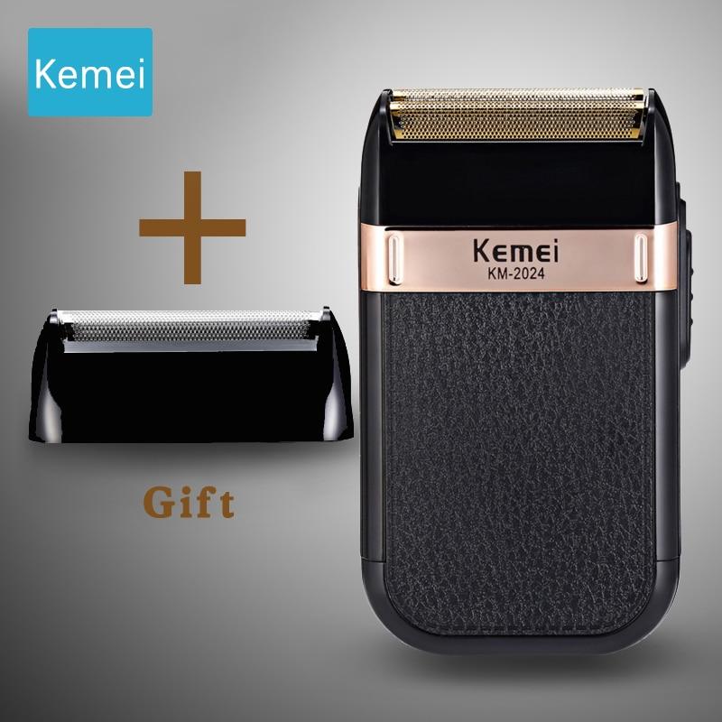 Kemei Electric Shaver Leather Razor Case Shaver For Men Double Knife Net Razor Mens Electric Shavers Gift For Men Razor Men 5