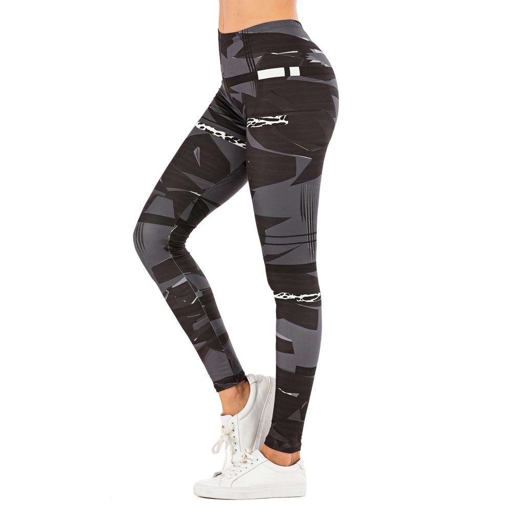 Brand Sexy Women Legging leaf Printing Fitness leggins Fashion Slim legins High Waist Leggings Woman Pants 21