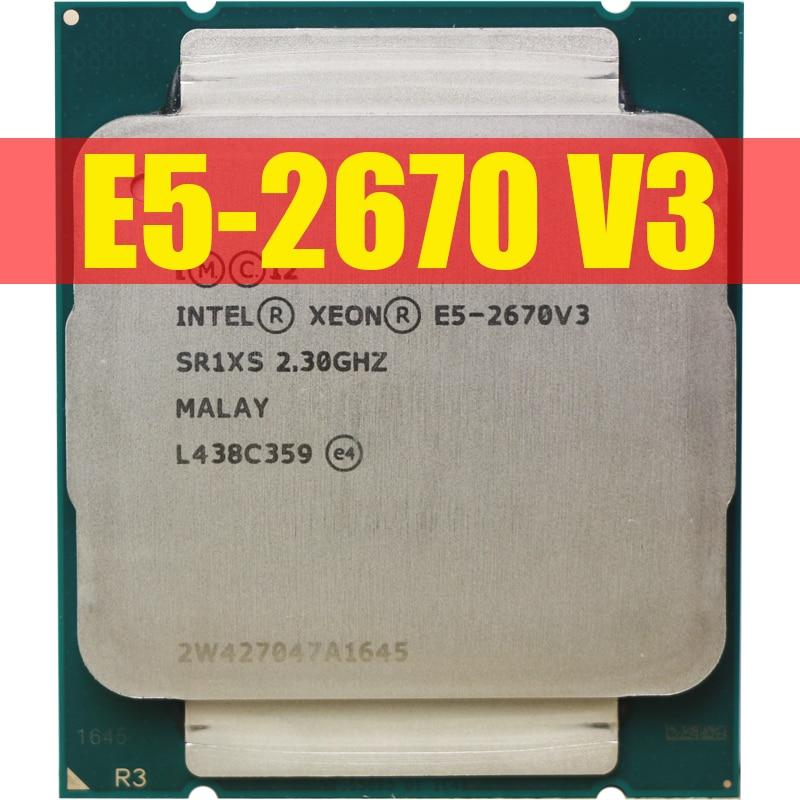 Официальная версия смартфона Intel ЦП Xeon SR1XS X99 2,30 ГГц 30M 12-ядерный процессор E5 2670 Φ V3 процессор E5 2670V3 CPU