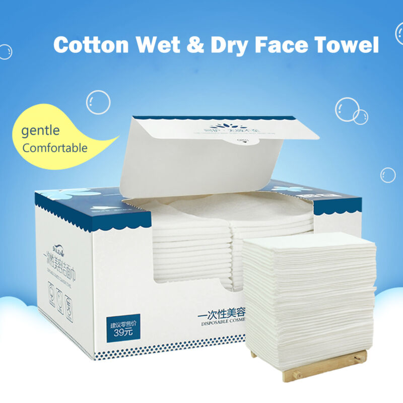 Luxury Disposable Face Cloths Towel Cotton Wash Infection Control Supersoft