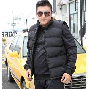 Image 2 - ฤดูหนาวผู้ชายสำหรับผ้าฝ้ายเสื้อแขนกุดเสื้อกั๊ก6XL 7XL 8XL 9XL Manขนาดใหญ่Mannen Black Royal blue Mens Coat