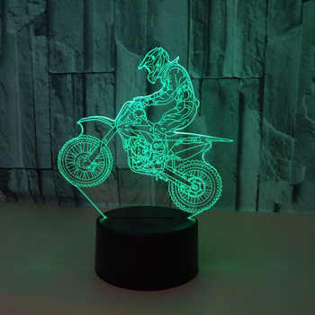 3D Extremity Motorcycle LED Cool Boy Gift Night Light Rider 3d Fast & Furious 8 Color Changeable Table Lamp Room Upholstery - Category 🛒 All Category